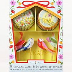 Birdie cupcake kit