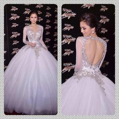 27dress.com custom made 2014 New Arrival Appliques Lace V-neck Long Sleeves Sheer Ball Gown Wedding Dress       jaglady