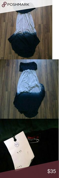 Strapless Hi Low Dress Brand new never worn. Super cute. Just don't like how it looks on me Dresses High Low