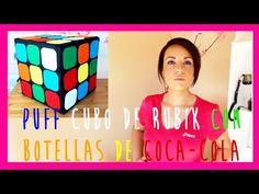 como hacer un asiento tipo puff reciclando botellas de coca-cola, ideas para decorar tu cuarto - YouTube