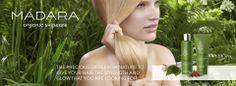 shampoo balsam madara cosmetics Madara Cosmetics, Organic Skin Care, Natural Beauty, Your Hair, Shampoo, Glow, Nature, Products, Naturaleza