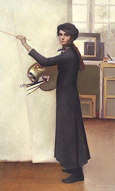 Louise Camille Fenne - self-portrait