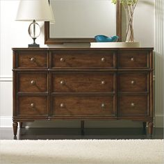 Where To Buy Stanley Furniture Classic Portfolio Vintage Dresser In  Heirloom Cherry