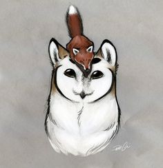 st3ll4v0lp3 said:Can  you draw the owl Griffin with a Fox by chance? Don't care how or what,  I'm debating on getting it as a tattoo with your permission ( ^ω^)Sure thing!