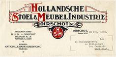 Oirschot Een briefhoofd van Hollandsche Stoel & Meubelindustrie