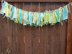 Shabby Rag Garland, Wedding Decoration, Photo Backdrop, Party, Shower, Home Decor, Ready to Ship Garland Wedding, Wedding Decorations, Rag Garland, Boy First Birthday, First Birthdays, Backdrops, Shabby, Ship, Shower