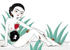 """""""Frida fue algo más que dolor y angustia. Quiso ser fiel a su arrolladora personalidad y se convirtió en una artista llena de vida. Su pintura es fiesta, color, sangre y vida. Fue una luchadora que decidió ponerse el mundo por montera y una mujer apasionada que no se conformó con estar a la sombra …"""