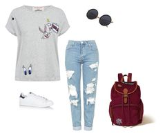 """patches 💕"" by hollandposey ❤ liked on Polyvore featuring Paul & Joe Sister, Hollister Co., Topshop and adidas"