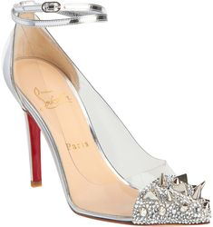 Christian Louboutin Just Picks in Silver