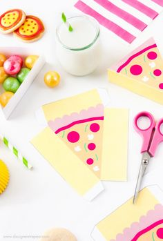 Free Pizza Party Printable Boxes