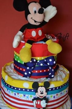 Diaper cake Mickey Mouse by lorene