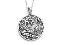Sentimental Expressions(tm) Sterling Silver Antiqued Animal Friends-Dog 18 Inch Necklace,$79.99