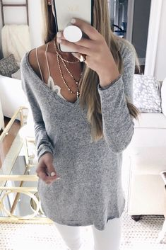 7bc78b845b Women S Long Sleeve V-Neck Knitted Sweaters Fashion Ideas