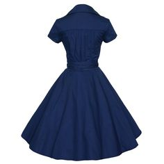 Vintage V-Neck Pure Color Short Sleeve Ball Dress For Women