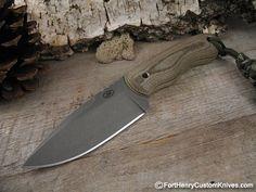 Jonny Mac Knives Item Condition: New Handle Material: Green Canvas Micarta / Yellow Liner Blade Steel: D2 Blade Length: 3 3/4