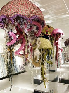 Yesterday afternoon we drove to Manchester with a van filled with custom made fabric jellyfish. This is the second phase of the John Lewis H...