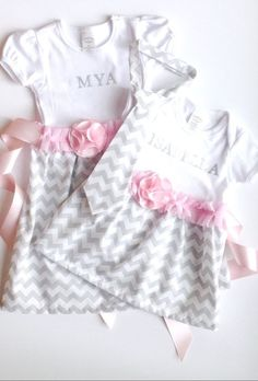 Sibling matching outfits, brother sister matching outfits, gift set, personalized dress, boy tie Big Sister Little Sister, Brother Sister, Little Sisters, Matching Sister Outfits, Boys Ties, My Girl, Dressing, Daughter, Rompers