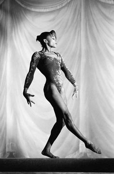 """Competed in her third Olympics at age 24 - Dominique Dawes.  Known for being a 3-time Olympian, a World Championships silver medalist and member of the gold-medal winning """"Magnificent Seven"""" at the 1996 Summer Olympics. She is the 1st African-American woman to win an individual Olympic medal in artistic gymnastics, the 1st black person to win an Olympic gold medal in gymnastics, 1 of only 3 female American gymnasts, to compete in 3 Olympics and was part of 3 Olympic medal-winning teams."""