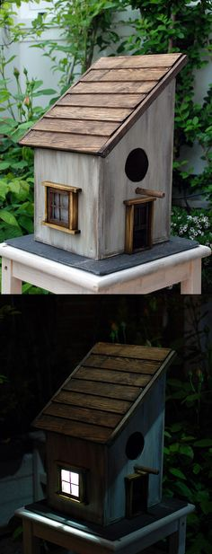 Most Popular Birdhouses Rustic in Your Garden 12 This handcrafted, rustic birdhouse is a great way to decorate your garden. Birdhouses could be set up in a variety of methods and in several locations at differing heights. Building Bird Houses, Bird Houses Diy, Fairy Houses, Bird House Plans, Bird House Kits, Purple Martin House, Wren House, Bird House Feeder, Bird Feeders