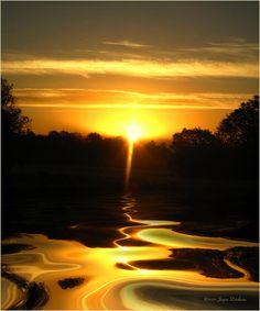 wow                ~~Mount Lassen Sunrise~~                     Gold by Joyce Dickens