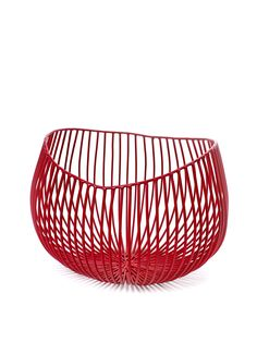 Beautiful design object from a collaboration between Serax and Italian designer Antonio Sciortino. We have a cup on the kitchen table as a fruit Basket Rouge, Iron Heights, Key Bowl, Red Centerpieces, Red Basket, Iron Bowl, Red Home Decor, Wire Baskets, Deco Design