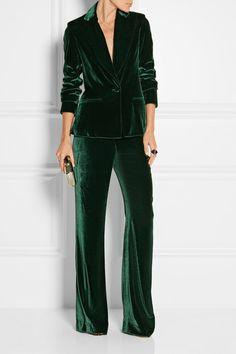 Cushnie et Ochs | Velvet wide-leg pants | NET-A-PORTER.COM