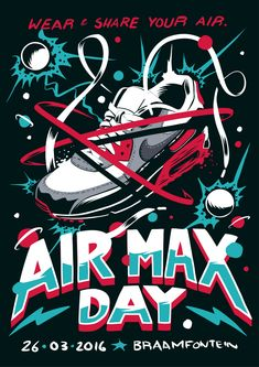 A poster for Nike Air Max Day by Ian Jepson