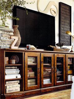 Media Cabinet option with storage for: books; liquor; artwork; cigars etc