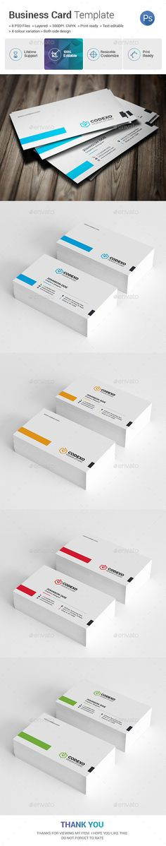 Corporate #Business Card - Business Cards Print Templates