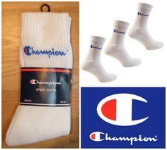 5090495bdc41 3 x champion sports crew socks 3 pair pack trainer cotton uk 5   6   7   8  39-42