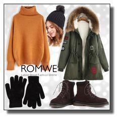 """Romwe - XVIII/8"" by dzemila-c ❤ liked on Polyvore featuring romwe"