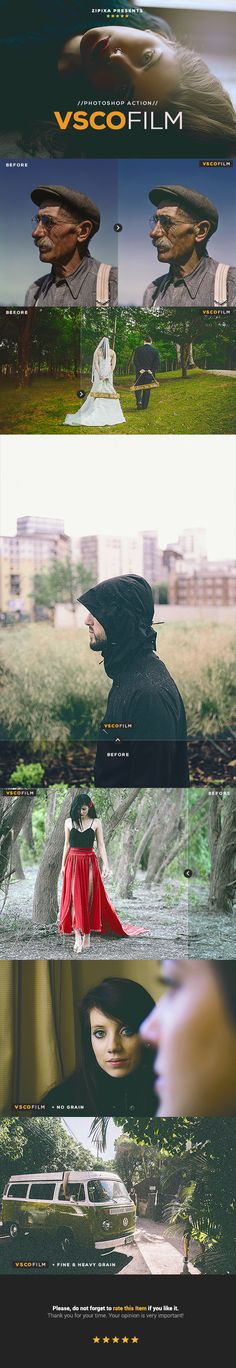 VSCO Film Photoshop Action  • Only available here ➝ http://graphicriver.net/item/vsco-film-action/16478533?ref=pxcr