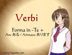 http://sakuramagazine.com/giapponese-lezione-23-verbi-in-forma-te%E3%81%A6-aru-%E3%81%82%E3%82%8B-amasu-%E3%81%82%E3%82%8A%E3%81%BE%E3%81%99/
