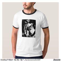 Men's T-shirts Men's T-Shirt Tops. Beautiful Fine Art Drawing of a Cowboy T-Shirt. Fast Worldwide shipping. $28.65