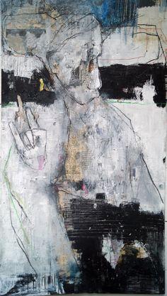 carolakastman,art,mixedmedia,,contemporaryart,blackandwhite Blue Abstract Painting, Abstract Drawings, Decoupage On Canvas, Portrait Art, Portraits, Small Art, Figure Painting, Figurative Art, Modern Art
