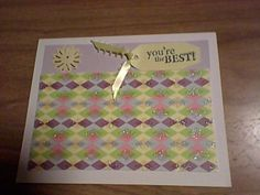 Sticker flower & tag with ribbon