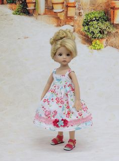 "Spring Robin - dress & sandals for Dianna Effner Little Darling dolls 13"" #DiannaEffner"