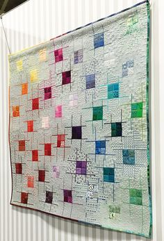 Spring Quilt Market kicked off at 9:30am on Friday, May 20 at the Salt Convention Center in Salt Lake City, UT and the Aurifil booth was filled with color. Not even the city-wide power outage the n…