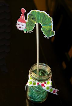 DIY The Very Hungry Caterpillar Centerpieces