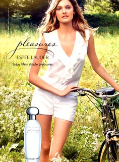 "Influence and Stardoll: ♥♥♥ Constance Jablonski for Estée Lauder ""Pleasures"" fragrance, Estee Lauder Fragrances, Estee Lauder Pleasures, Makeup Poster, Perfume Ad, Vintage Makeup, Kate Moss, Celebrity Photos, Beautiful Women, Celebrities"