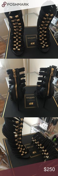Balmain x HM heels Beautiful sold out balmain x hm heels worn only twice With box and dustbag size 36 Balmain Shoes