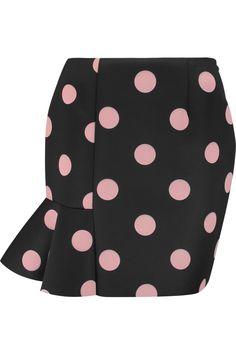 VIVETTA Polka-dot scuba-jersey mini skirt. #vivetta #cloth #skirt