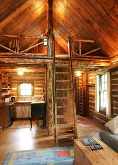 Rustic Little House On Prairie CabinYou can find Little cabin and more on our website.Rustic Little House On Prairie Cabin Small Cabin Designs, Small Log Cabin, Tiny House Cabin, Log Cabin Homes, Log Cabins, Tiny Houses, Rustic Cabins, Little Cabin, Small Cabin Decor