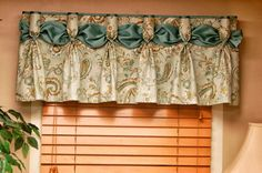 others brilliant valance window treatment patterns with goblet pleat drapery tape and ethnic pattern fabric also ribbon curtain panel in green color palette over wood shutters