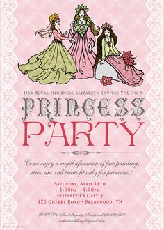 Family princess birthday parties crafts and signs filmwisefo Gallery