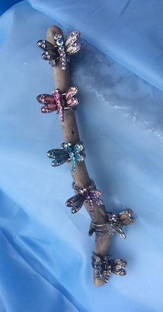 Dragonfly hair clips