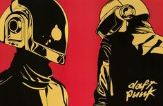 A great Daft Punk poster laid out in a Pop Art style! They're human, after all, but those robot helmets are out of this world! Ships fast. 24x36 inches. Don't be daft! Check out the rest of our awesom