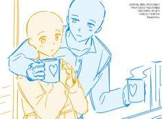 Cute Couple Drawings, Art Drawings Sketches Simple, Manga Poses, Poses References, Art Base, Drawing Reference Poses, Drawing Base, Anime Sketch, Character Design