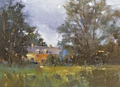 Stormclouds over the Meadow, painting by artist Nigel Fletcher