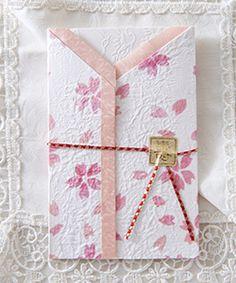 和婚の招待状 桜友禅A-08